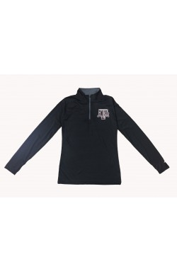 Ladies 1/4 Zip BKGR ATM