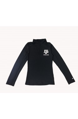 Ladies 1/4 Zip BK A&M 4286
