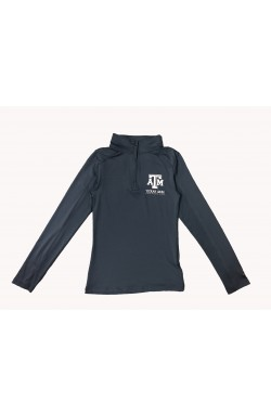 Ladies 1/4 Zip GR A&M 4286