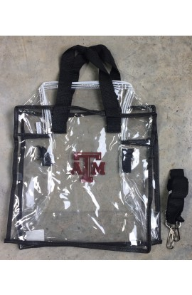 Clear Gameday Maroon ATM Tote