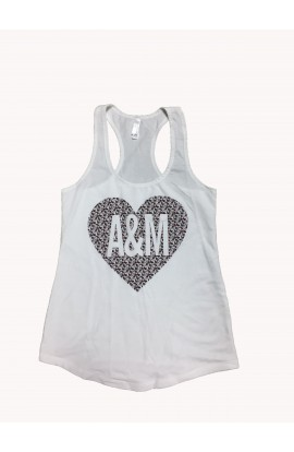 A&M Heart FT Wt Racerback