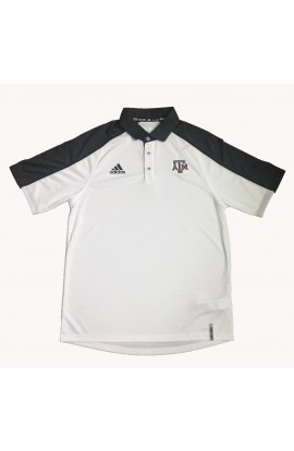 Adidas Char/Wht Coaches Polo